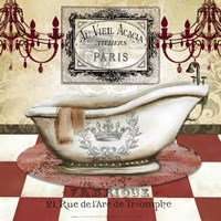 Red French Bath II by s - various sizes