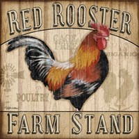 Country Rooster I Fine Art Print