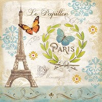 Le Papillon Paris I Fine Art Print