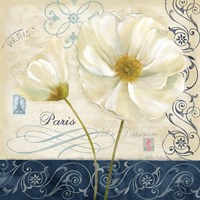 Paris Poppies Blue Trim II by Cynthia Coulter - various sizes