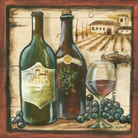 Wooden Wine Square I by s - various sizes, FulcrumGallery.com brand