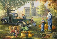 Little Farmers Market Fine Art Print