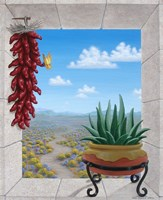 Aloe and Chilis II Fine Art Print