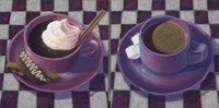 Caffeine Cups 2 Fine Art Print