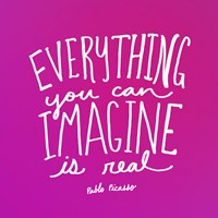 Imagine Pink by Leah Flores - various sizes