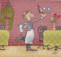 Wine Waiter Fine Art Print