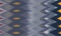 Windy Rug Pattern in Blues Fine Art Print