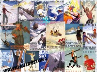 Ski Vacation Collage by Art Licensing Studio - various sizes
