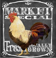 Rooster on Chalkboard IV by Art Licensing Studio - various sizes