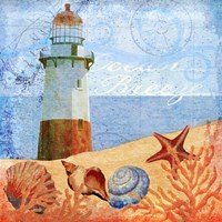 Ocean Breeze Lighthouse Fine Art Print