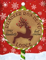 Reindeer Lodge Fine Art Print