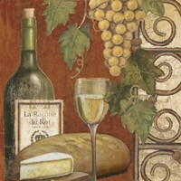 Wine and Cheese Tasting 1 Fine Art Print