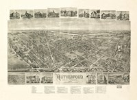 Rutherford, NJ Vintage Map, 1904 Fine Art Print