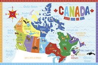 Canada Map by Erin Clark - various sizes