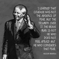 He Who Conquers - Nelson Mandela Quote Fine Art Print
