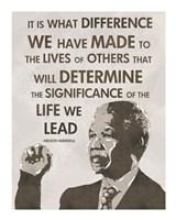 The Life We Lead - Nelson Mandela Fine Art Print