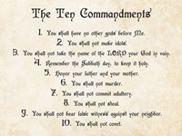 The Ten Commandments by Veruca Salt - various sizes