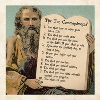 Tablets of the Ten Commandments Fine Art Print