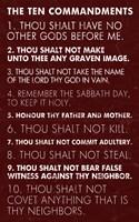 Ten Commandments - Red Grunge by Veruca Salt - various sizes