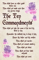 The Ten Commandments - Floral Fine Art Print