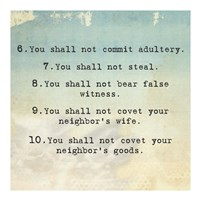 Ten Commandments 6-10 Fine Art Print