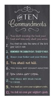 The Ten Commandments - Chalkboard Framed Print