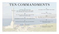Ten Commandments - Cross Fine Art Print