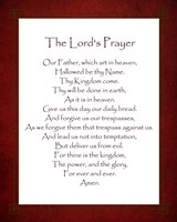 The Lord's Prayer - Red Framed Print
