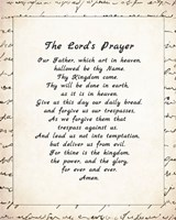The Lord's Prayer - Script Fine Art Print