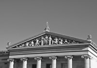 Philadelphia Museum (pediment I) (b/w) by Erin Clark - various sizes