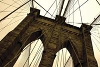 Brooklyn Bridge II (sepia) Fine Art Print