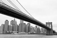 Manhattan from Brooklyn (b/w) by Erin Clark - various sizes