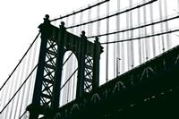 Manhattan Bridge Silhouette by Erin Clark - various sizes