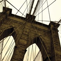 Brooklyn Bridge II (sepia) (detail) Fine Art Print