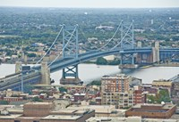 The Benjamin Franklin Bridge (aerial) by Erin Clark - various sizes - $41.99