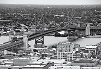The Benjamin Franklin Bridge (aerial) (b/w) by Erin Clark - various sizes - $41.99