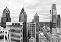 Philly Skyline (b/w) Fine Art Print