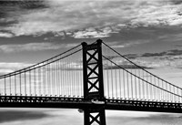 Benjamin Franklin Bridge (b/w) by Erin Clark - various sizes