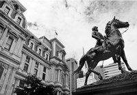 City Hall Sculpture (horse) (b/w) by Erin Clark - various sizes