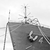 Ship Bow (b/w) Fine Art Print
