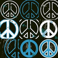 Peace Mantra (Blue) Fine Art Print
