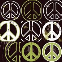 Peace Mantra (Green) Fine Art Print