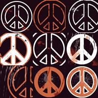 Peace Mantra (Orange) by Erin Clark - various sizes
