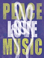 Peace Love Music by Erin Clark - various sizes