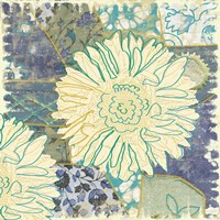Flower with Fabric by Erin Clark - various sizes