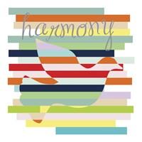 Dove Rainbow Framed Print
