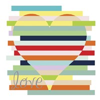 Heart Rainbow Fine Art Print