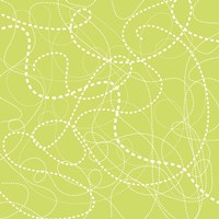 Dashes Green Framed Print