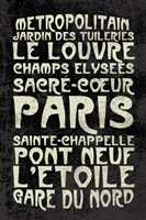 Paris Words by Erin Clark - various sizes