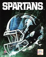 Michigan State Spartans Helmet Composite Fine Art Print